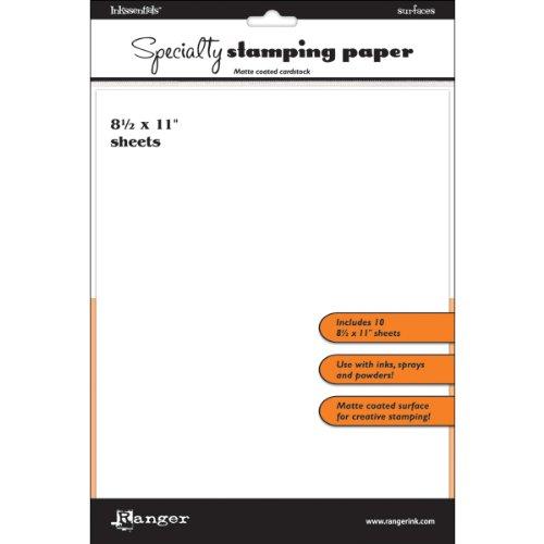 Ranger Inkssentials Specialty Stamping Paper, 8.5 by 11-Inch (Ink Ranger Inkssentials)