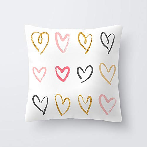 KDTCDBYMX Fundas para Cojines Lino Simple Love Couples Funda ...