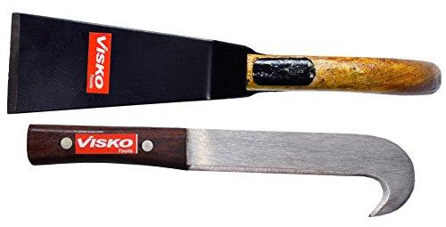 Visko GTK Garden Tool Set (Black and Brown, 2-Pieces)