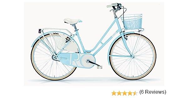 Bicicleta Elegante Mujer MBM Riviera 26 Pulgadas Bastidor y Cesta Luces Azul: Amazon.es: Deportes y aire libre
