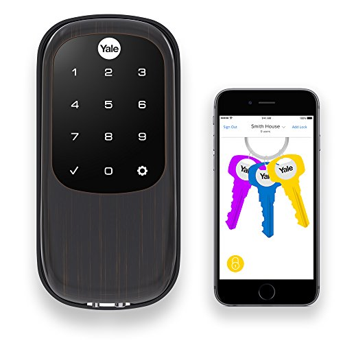 7d75f18ac5d Yale Assure Lock with Bluetooth - Key Free Touchscreen in Oil Rubbed Bronze  - Your Phone Is Your Key
