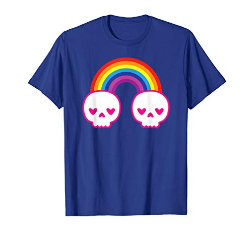 Pastel Goth Kawaii Punk Rainbow Skulls Shirt