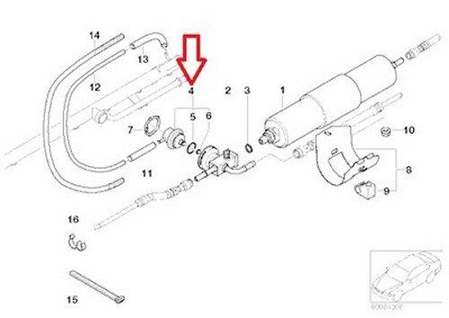 BMW OEM Fuel Pressure Regulator (5 0 Bar) E39 E46 E52 Z3