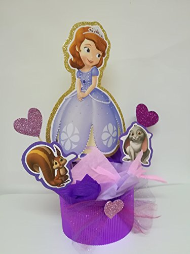 4 SOFIA THE FIRST CENTERPIECES, SOPHIA THE FIRST PARTY DECORATION, SOFIA BIRTHDAY CENTERPIECE SOFIA THE FIRST CENTERPIECES. SOFIA THE FIRST BIRTHDAY.