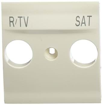 Schneider Electric U9.441.25 Caratula Toma R-TV/SAT, Marfil