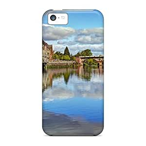 Awesome Bridge In A Beautiful Old City Flip Cases With Fashion Design For Iphone 5c