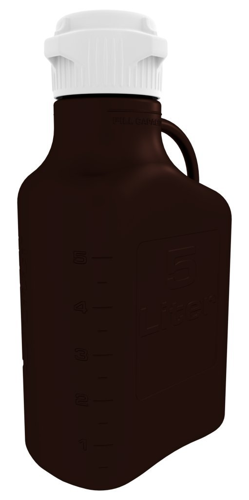 Foxx Life Sciences - 5L (1 Gal) Dark Amber PP Carboy with 83mm Cap