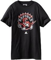 Toronto Raptors Adidas NBA Black Full Primary Logo T-Shirt