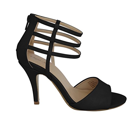 Miss Mafia Noir Loretta Haut Talon Chaussures De Mariage Formel De Mariée