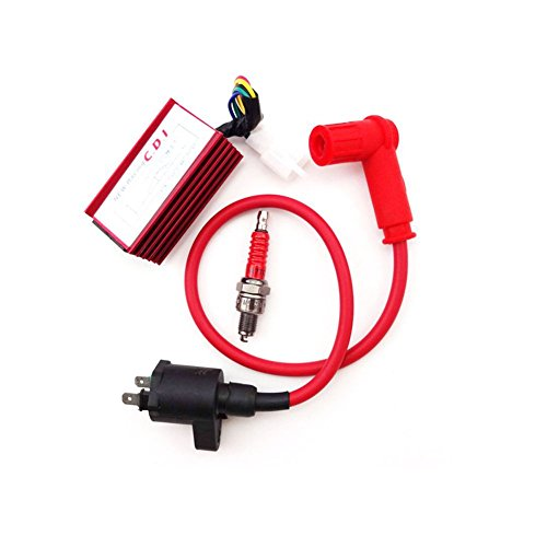 TC-Motor Racing Ignition Coil + 5 Pin AC CDI box + Spark Plug For