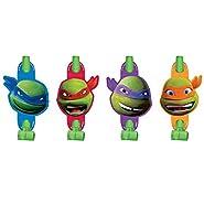 8 Count Teenage Mutant Ninja Turtles Blowouts, Multicolored