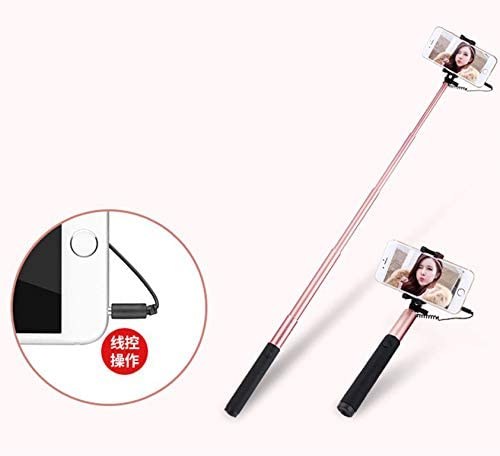 Extendable Handheld Self-Pole Tripod Monopod Stick for Smartphone Gold CHUANG TIAN Aluminum Wire Remote Control Stick