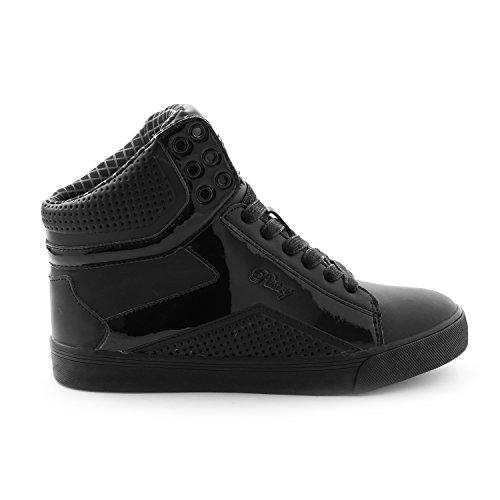 Pastry Pop Tart Grid Adult Dance Sneakers, Black/Black, Size 8.5