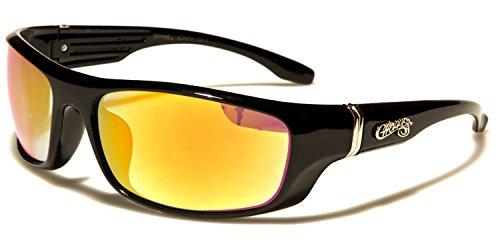 Taille SUNGLASSES unique Black orange Lens Yellow Homme SDK de Lunettes soleil T6XxngZ