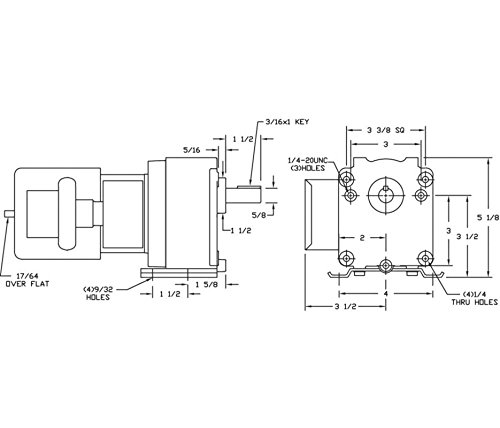 dayton 4z519 ac parallel shaft psc gear motor degrees fahrenheit rh amazon com Reversible AC Motor Wiring Diagram Dayton Timer Relay Wiring Diagram