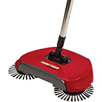 Turbo Tiger Sweeper - Hard Floor Rotating Brush Broom - Red