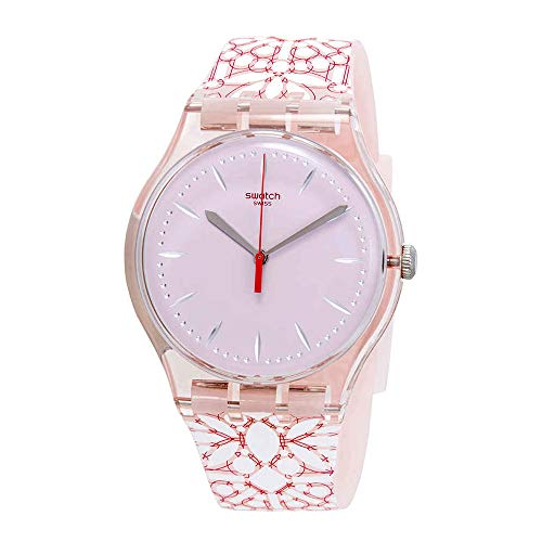 Swatch Women's Fleurie SUOP109 Pink Silicone Swiss Quartz Fashion Watch ()