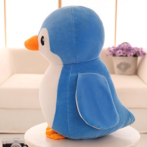 Babique Penguin Teddy Bear Plush Soft Toy Cute Kids Birthday Animal Baby Boys/Girls (28 cm, Blue) 3