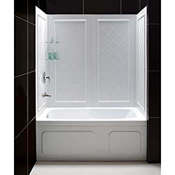 Sterling 62044100-0 Advantage Shower Wall Set Only White - Shower ...