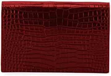 91473a0a168 Saint Laurent Kate Monogram YSL Tassel Croco Wallet on Chain Bag - Miroir  Hardware made in