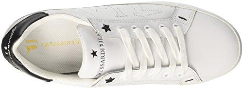 Trussardi Jeans 79a00129, Sneaker a Collo Basso Donna Bianco
