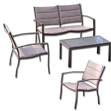 Mesa de jardín hierro Sofá desmontable de mesa sillones 4 ...
