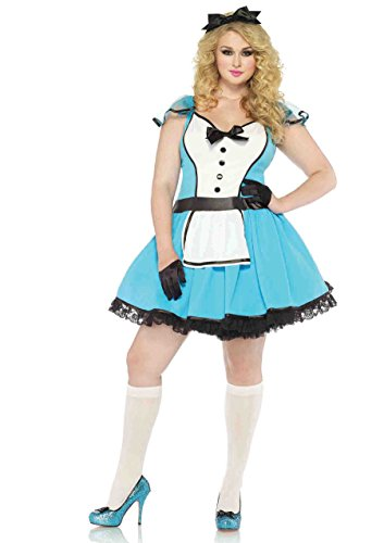 Storybook Alice Plus Size Costumes - 2 PC. Ladies Storybook Alice Dress