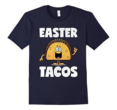 Basket Vintage Easter (Men's Easter Tacos Vintage Funny Easter Basket Gifts Taco T-Shirt Large Navy)