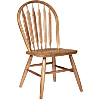 Dooleys 3107 Solid Oak Arrowback Dining Chair, 17-3/4 Length x 17-3/4 Width x 37-1/2 Height, Medium Finish