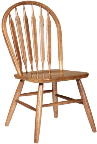 "Dooley's 3107 Solid Oak Arrowback Dining Chair, 17-3/4"" Length x 17-3/4"" Width x 37-1/2"" Height, Harvest Finish - Solid oak arrowback dining chair Measures 17-3/4-inches length by 17-3/4-inches width by 37-1/2-inches height Classic design - kitchen-dining-room-furniture, kitchen-dining-room, kitchen-dining-room-chairs - 41 lHdWvwQL -"