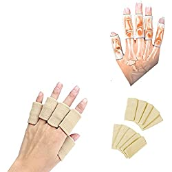 PU LifeStyle Finger Sleeves for Arthritis, Stiffness, Support and Pain, Tan