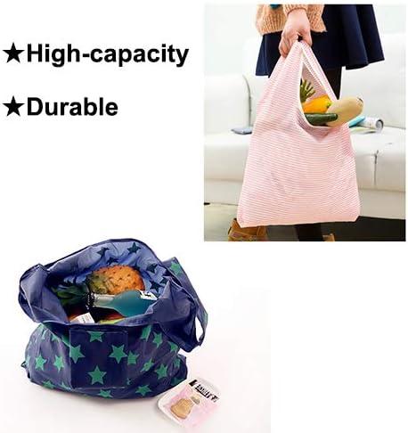 l/éger pliables Lot de 12 sacs d/épicerie r/éutilisables sac fourre-tout dans une pochette attach/ée peut contenir jusqu/à 20 kg durable lavable /étanche