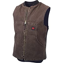 Tough Duck™ Washed Quilt - Lined Vest, CHESTNUT, XL
