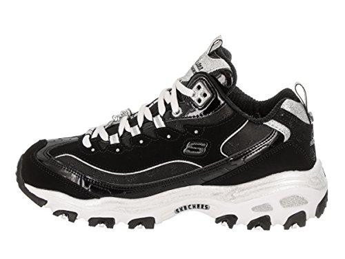 D'Lites Skechers Negro Zapatillas deportivas Blanco Mujeres qOt5w5Y