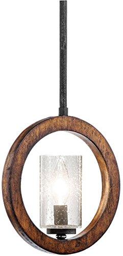 Kichler 43189AUB Grand Bank Mini Pendant/Wall 1-Light, Auburn Stained Finish