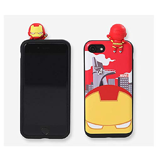 〈iPhoneX?アイフォンX〉 マーベル フィギュア スライド カード ケース Marvel Figure Slide Card Case スマホ 携帯 スマートフォン ケース ソフト カップル カード収納 スライド式 シリコン ハード 薄い フィット 友達 おそろい アニメー 人気 可愛い スリム カバー 〔アイアンマン?Ironman〕