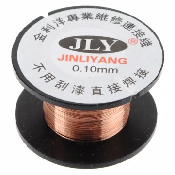 man-friday-01mm-copper-soldering-solder-ppa-enamelled-reel-wire-roll-15m-new