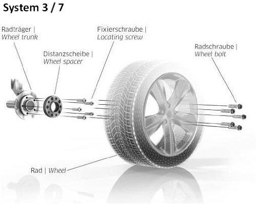 Eibach Pro Spacer Spurverbreiterung Distanzscheibe System 7 mit ABE S90-7-20-035/_4