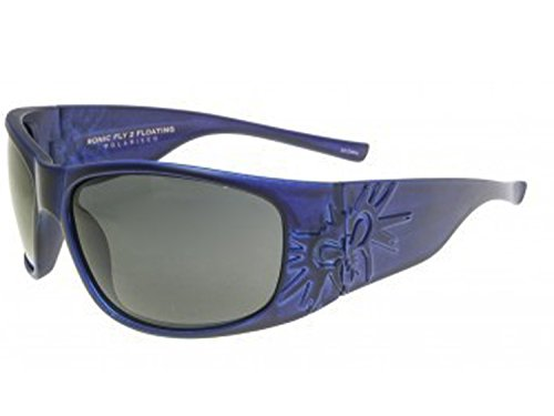 black flys Sonic Fly 2 Floating Sunglasses (Matte Blue w/Smoke Polarized Lens)