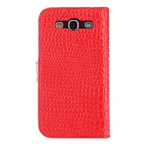 AES - Crocodile Grain Leather Case with Crown Buckle for Samsung Galaxy S3 I9300 , Pink