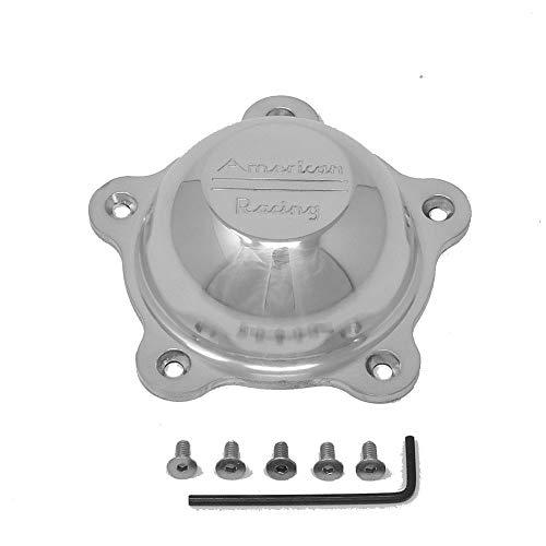 (American Racing Wheels 3505293 Short Polished Alum Center Cap w/Logo Each)