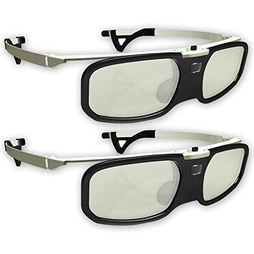 Firestorm LT 2.0! DLP link 3D glasses by True Depth 3D® rechargeable & lightweight (compatible with Benq, Optoma, Acer, Vivitek, Dell Etc) & All DLP HD 3D TVs At 96 - Lenses Existing Prescription Frames New