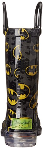 Western Chief Kids Waterproof D.C. Comics Character Rain Boots with Easy on Handles, Light-up Batman, 12 M US Little Kid by Western Chief (Image #2)