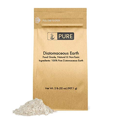 Pure Organic Ingredients Natural Diatomaceous Earth, 2 lb, Made in USA, Food...