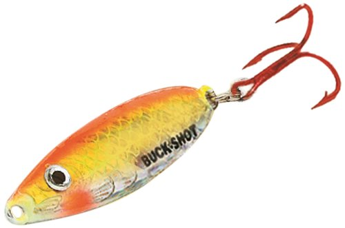 Northland BRS2-24 1/16-Ounce Buck-Shot Rattle Spoon, Super-Glow Chub ()
