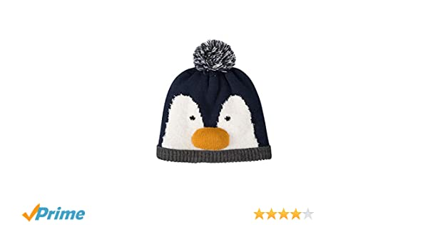 7f24bf782ca Amazon.com  Mountain Warehouse Penguin Kids Beanie - Warm Winter Cap Hat  Blue  Sports   Outdoors