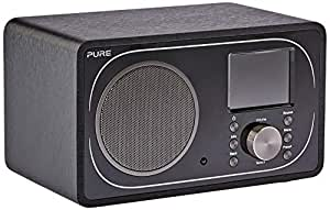 PURE Evoke F3 Internet, DAB/DAB+ Digital and FM Radio, Bluetooth Radio Compatiable with Spofity Connect, Black