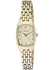 Armitron Womens 75/5375CHGP Easy To Read Gold-Tone Bracelet Watch