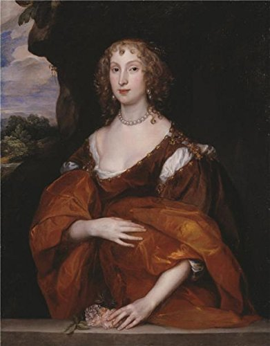 Oil painting 'Anthony Van Dyck - Portrait of Mary Hill, Lady Killigrew,1638' printing on high quality polyster Canvas , 24x31 inch / 61x78 cm ,the best Foyer decoration and Home (Scary Mary Crafts)