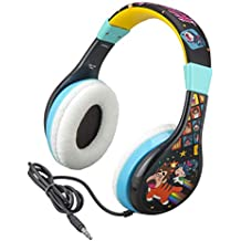 Ralph Breaks The Internet Headphones for Kids with Built in Volume Limiting Feature for Kid Friendly Safe Listening Wired Wreck It Ralph 2 Kids Headphones